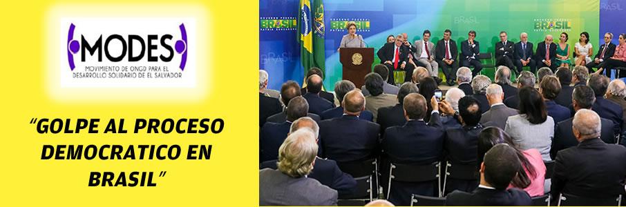 GOLPE al proceso democrático de Brasil