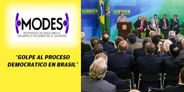 GOLPE AL PROCESO DEMOCRATICO EN BRASIL